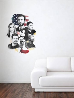 Rawpockets Wall Decals ' Hollywood Movie Stars '  Wall stickers (PVC Vinyl) Multicolour - 15734118 - Standard Image - 2