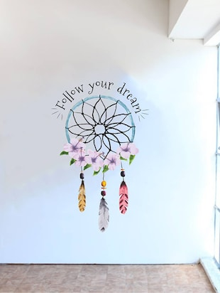 Rawpockets Wall Decals ' Follow Your Dream '  Wall stickers (PVC Vinyl) Multicolour - 15734166 - Standard Image - 2