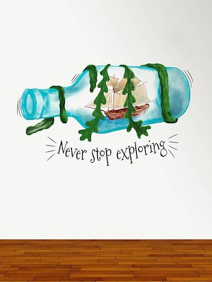Rawpockets Wall Decals ' Never Stop Exploring '  Wall stickers (PVC Vinyl) Multicolour - 15734169 - Standard Image - 2