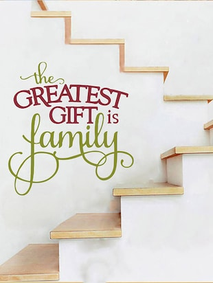 Rawpockets Wall Decals '  The Greatest Gift is Family?' Quote '  Wall stickers (PVC Vinyl) Multicolour - 15734193 - Standard Image - 2