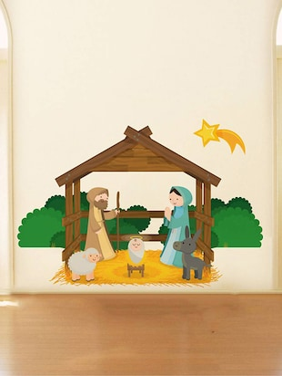 Rawpockets Wall Decals ' Jesus Borns Story '  Wall stickers (PVC Vinyl) Multicolour - 15734201 - Standard Image - 2