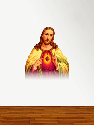 Rawpockets Wall Decals ' Jesus '  Wall stickers (PVC Vinyl) Multicolour - 15734214 - Standard Image - 2