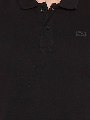 black cotton polo t-shirt - 15735245 - Standard Image - 5