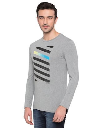 grey viscose t-shirt - 15735269 - Standard Image - 2