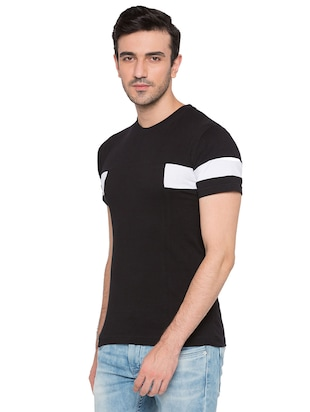 black cotton monochrome t-shirt - 15735274 - Standard Image - 2