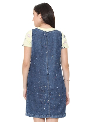 pocket patch pinafore dress - 15735387 - Standard Image - 2