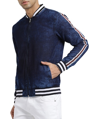 blue cotton denim jacket - 15735687 - Standard Image - 2