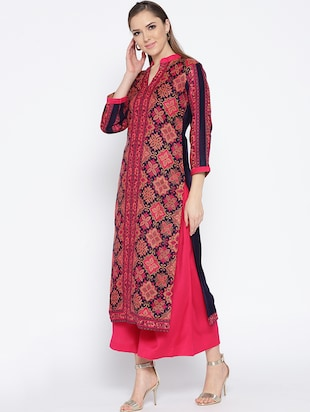 Self-design unstitched palazzo suit - 15735767 - Standard Image - 2