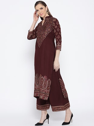 Self-design unstitched palazzo suit - 15735776 - Standard Image - 2