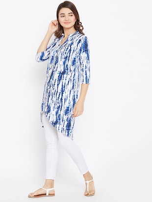 tied and dyed high low tunic - 15735912 - Standard Image - 2
