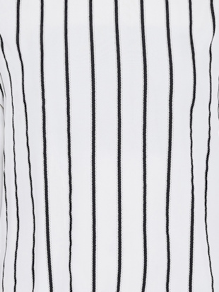slit sleeved striped tunic - 15736679 - Standard Image - 5