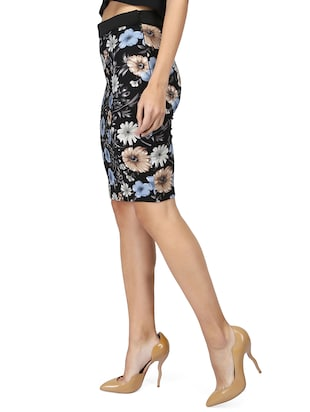 high rise floral pencil skirt - 15736809 - Standard Image - 2