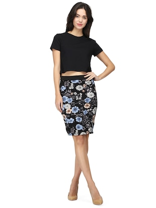 high rise floral pencil skirt - 15736809 - Standard Image - 5