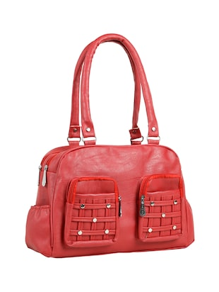 red leatherette (pu) regular handbag - 15737058 - Standard Image - 5