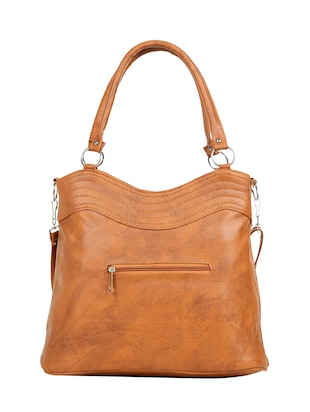 tan leatherette (pu) regular handbag - 15737070 - Standard Image - 2