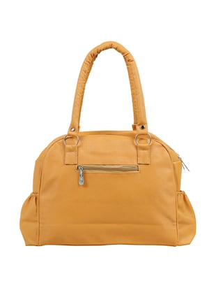 yellow leatherette (pu) regular handbag - 15737106 - Standard Image - 2