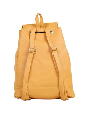 yellow leatherette (pu) fashion backpack - 15737540 - Standard Image - 2