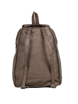 brown leatherette (pu) fashion backpack - 15737544 - Standard Image - 2