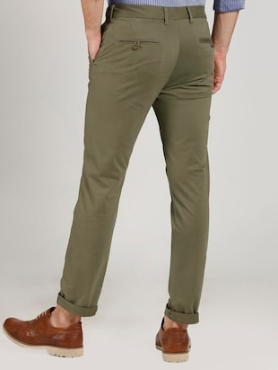 green cotton chinos - 15737583 - Standard Image - 2