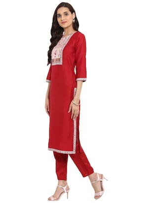 Printed kurta with pant set - 15737629 - Standard Image - 2