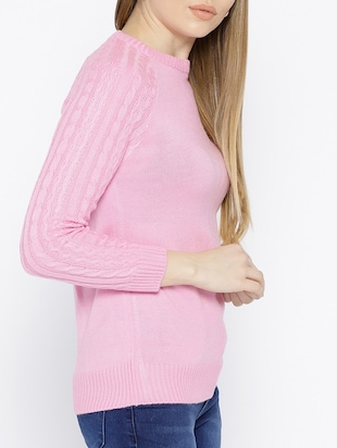 cable knit woolen pullover - 15737797 - Standard Image - 2