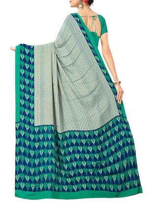 geometrical printed saree with blouse - 15737912 - Standard Image - 2