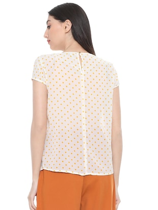 polka dotted pleated top - 15738078 - Standard Image - 2