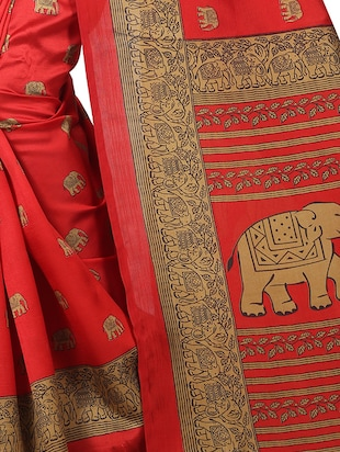 kalamkari mysore silk saree with blouse - 15738102 - Standard Image - 2