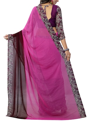 paisley half & half saree with blouse - 15738187 - Standard Image - 2
