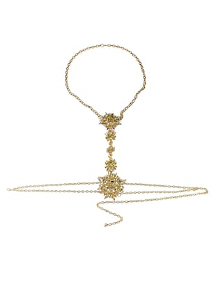 gold metal body jewellery - 15738994 - Standard Image - 2