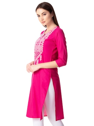 Embroidered straight kurta - 15739047 - Standard Image - 2
