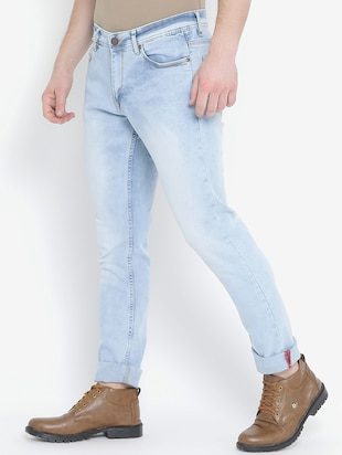blue denim washed jeans - 15739147 - Standard Image - 2