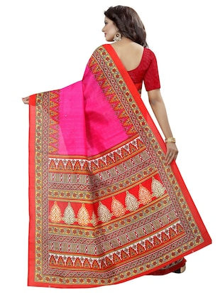 geometrical border bhagalpuri saree with blouse - 15743568 - Standard Image - 2