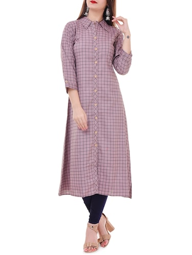 cd39b87c9 Buy A-line Multi Checks Kurta for Women from Jompers for ₹600 at 29 ...