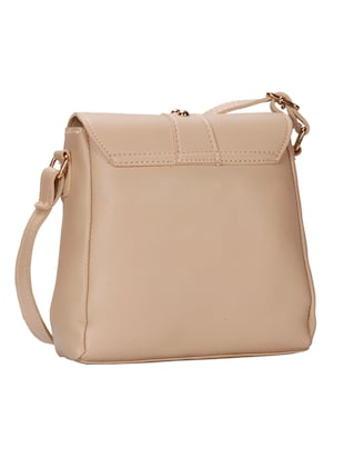 beige leatherette (pu) regular sling bag - 15746690 - Standard Image - 2