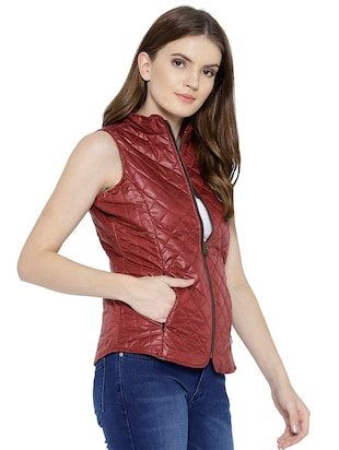 quilted & padded sleeveless jacket - 15748098 - Standard Image - 2