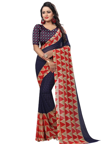 bfff47505b Buy Floral Printed Saree With Blouse for Women from Dhruti Creation ...