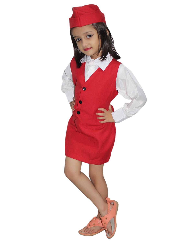 85231d528d0 Buy Red Polyester Air Hostess Costume for Women from Kaku Fancy ...