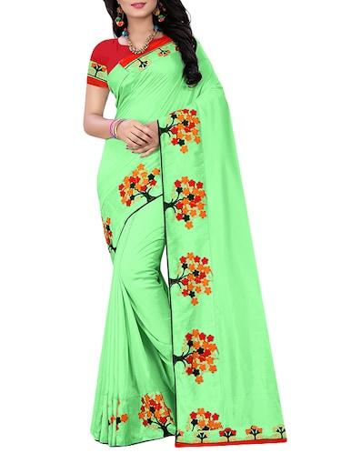 f42115b8d90ca Buy Heavy Embroidered Silk Saree With Blouse for Women from Mastani ...