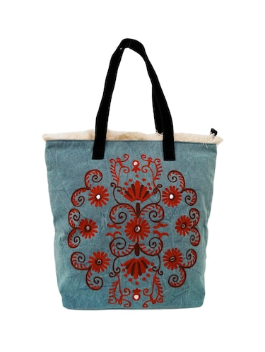 3b5056156973 Buy Blue And White Printed Canvas Tote by Anges Bags - Online shopping for  Totes in India