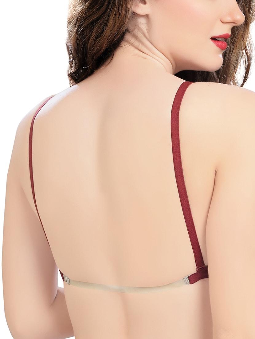 bf4918be3b ... Wine Transparent strap back t-shirt bra - 15783311 - Zoom Image - 2