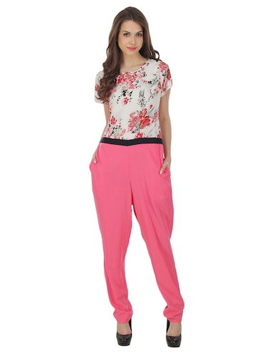17d1be6dfe1 Buy Pink Floral Cotton Jumpsuit for Women from Goodwill for ₹619 at 61% off
