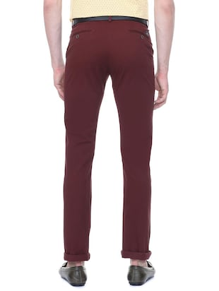 red cotton chinos - 15814606 - Standard Image - 2