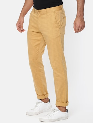 brown cotton chinos casual trousers - 15815358 - Standard Image - 2