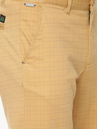 brown cotton chinos casual trousers - 15815358 - Standard Image - 5