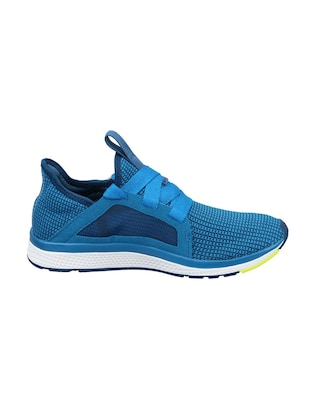 blue Fabric lace up sport shoes - 15825546 - Standard Image - 2