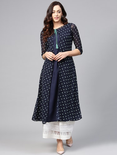 6edbd1b1467c8 Looking for Georgette Kurtis under 499  Buy Georgette Kurti Design Online  in India