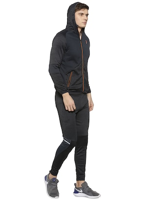 black polyester full length track suit - 15856226 - Standard Image - 2