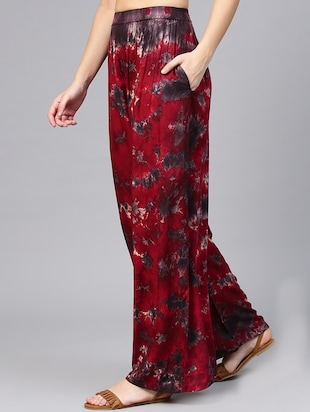 tied and dyed elasticated waist palazzo - 15857107 - Standard Image - 2