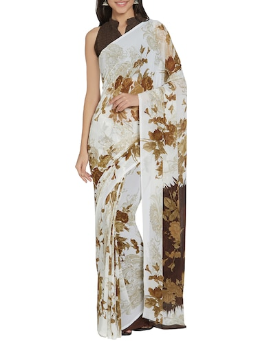 b31d5e9e1b40f Buy Cream Color Saree With Blouse for Women from Rajnandini for ₹534 at 33%  off